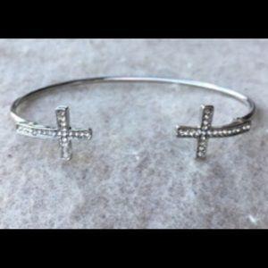 Vintage double cross bracelet